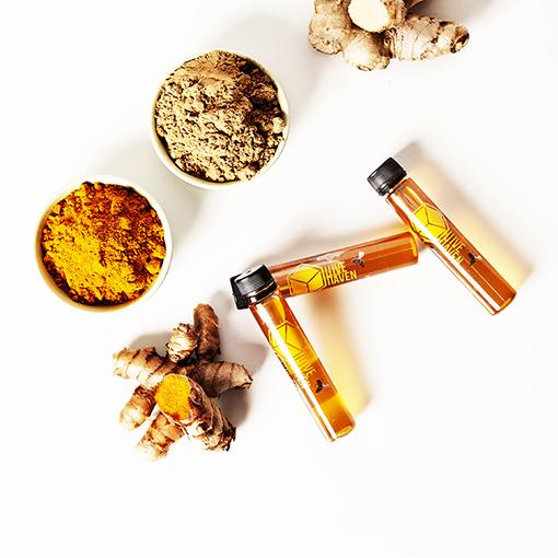 honey-vial-ground-ginger-turmeric
